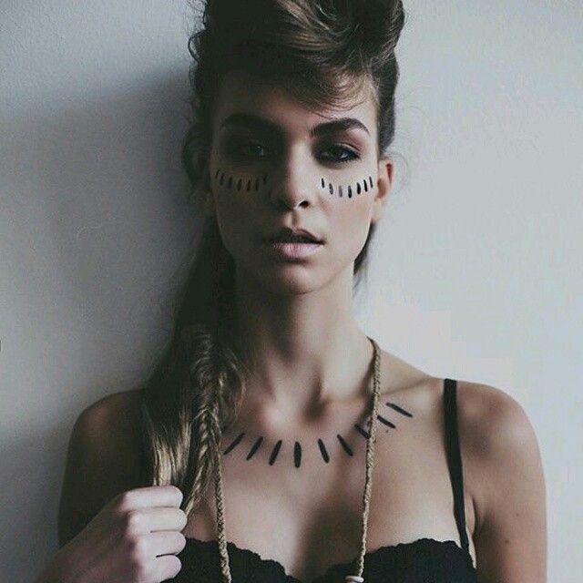 Festival style Extrém fesztivál smink, a törzsi motívumok kedvelőinek #makeup #festival #style #trend #etno
