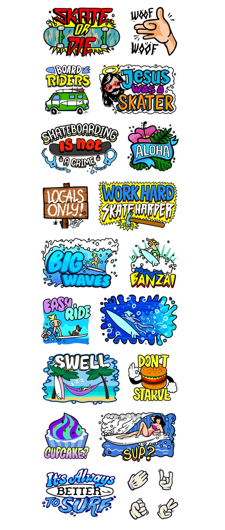 Viber Extreme Stickers pack on Behance