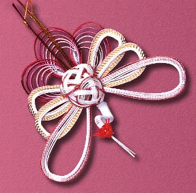 Decorations made of paper cord called Mizuhiki