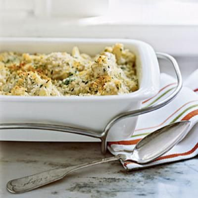 Gratin of Cauliflower with Gruyère Recipes BB:Made several times. Delicious, Double recipe for holiday meal.