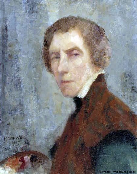 Self portrait, Maria Wiik (Finnish, 1853-1928)