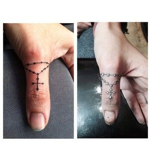 rosary tattoos on finger - Google 搜尋