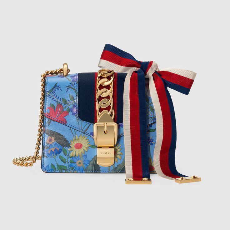Sylvie New Flora leather mini chain bag