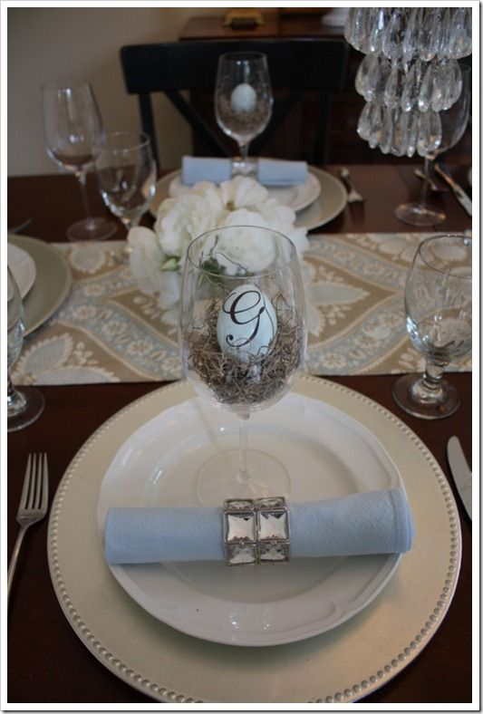 Easter place settings