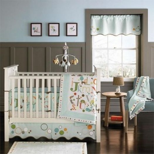 Love the calming blue and brown colors in this baby boy nursery http://pinterest.net-pin.info/: Crib Bedding, Wall Colors, Baby Boys Nurseries, Baby Boys Beds, Boys Rooms, Baby Rooms, Cribs Beds Sets, Nurseries Ideas, Baby Nurseries