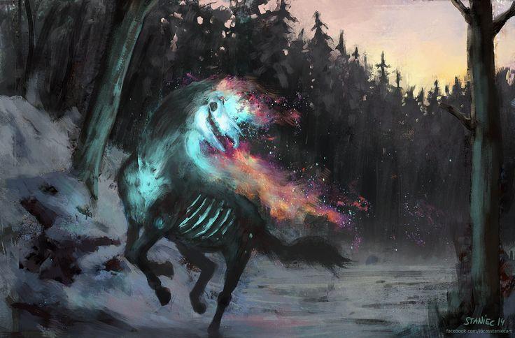 Fire Horse Illustration Painting Digital Art Horror Art Pinterest Horse Illustration