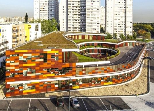Tiered Green Roofs Crown The Landmark Bobigny School In France