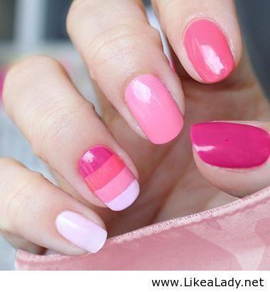 Cute pink nails