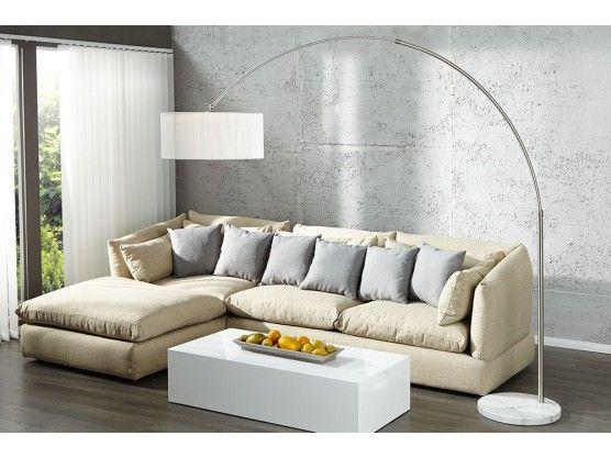 Un design ultra contemporain monte sur un socle de marbre, celampadaire Arc Venise blancapportera une touche retro a votre interieur. Le port majestueux, ce luminaire sera du plus bel effet dans un salon design qui se veut raffine !