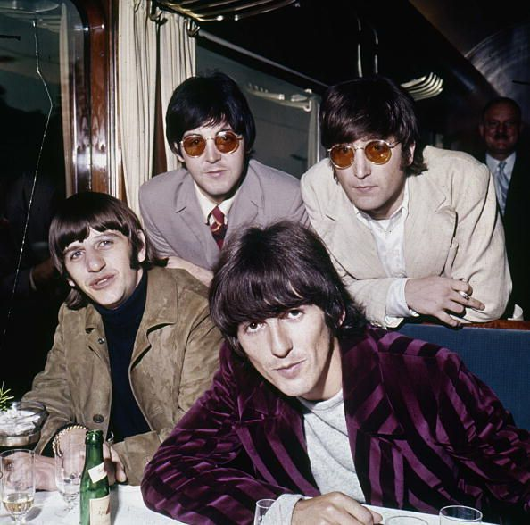 The Beatles English music group Pop Standing Paul MacCartney and John Lennon Seat Ringo Starr and George Harrison August 1966