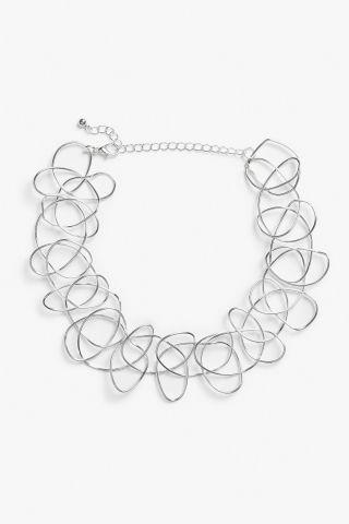 Monki Loop-de-loop chokerin Silver