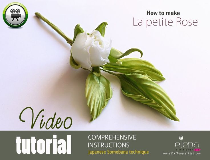 "Complete video tutorial in Somebana technique silk flower art ""La petite Rose"" ❤ https://www.youtube.com/watch?v=meWHWX7MO9A"