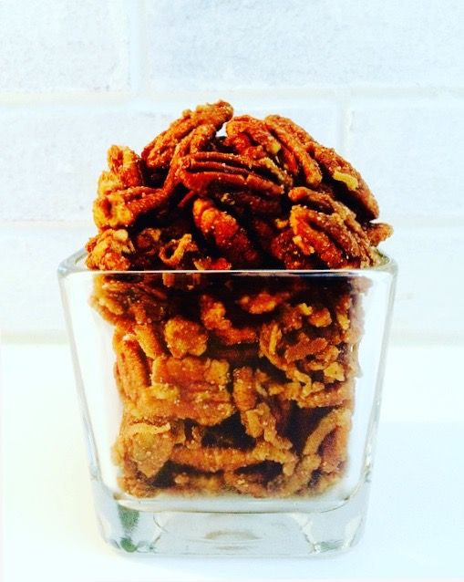 Maple Glazed Coconut Pecans