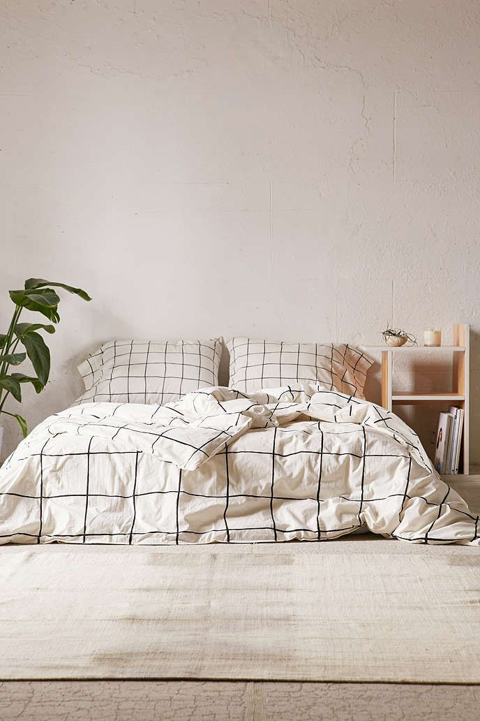 Wonky Grid Duvet Cover - Urban Outfitters