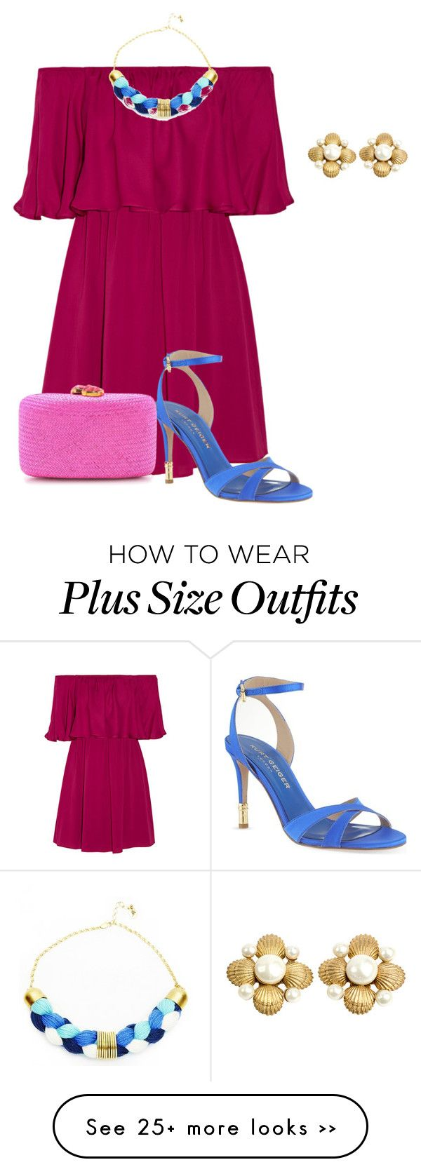"""plus size summer chic wedding guest look"" by kristie-payne on Polyvore"