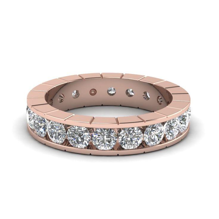 classy-orb-eternity-wedding-band-with-white-diamond-in-14K-rose-gold-FDEWB470B-NL-RG