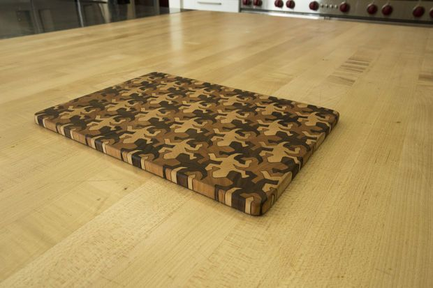 Picture of End Grain Cutting Board Using MC Escher Tessellations, by buchananwp at Instructables