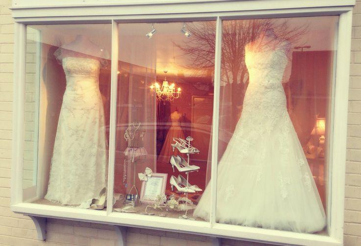 January window  The Bridal Room Atherstone | www.TheBridalRoomAtherstone.co.uk | info@ TheBridalRoomAtherstone.co.uk | T:01827 767 080 | #brides #wedding