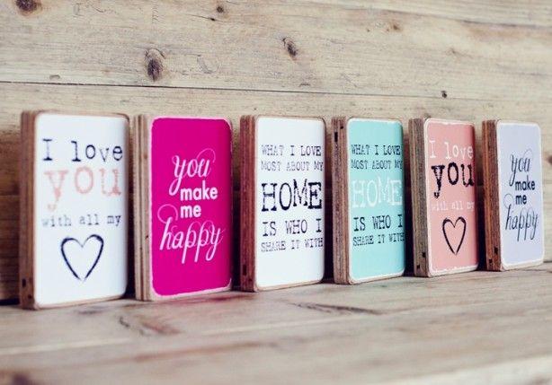 tekst of foto drukken op houtblok