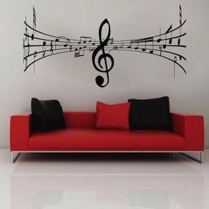 music symbol wall decal - Decorative Wall Designs
