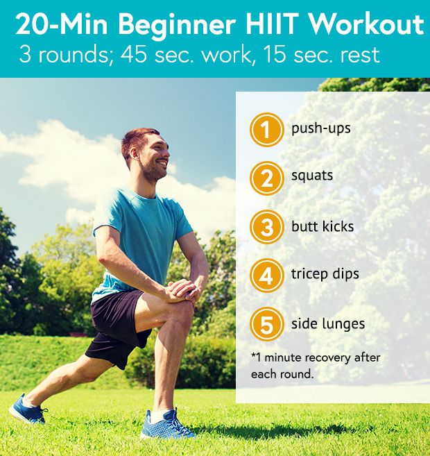 20 Minute Beginner HIIT Workout