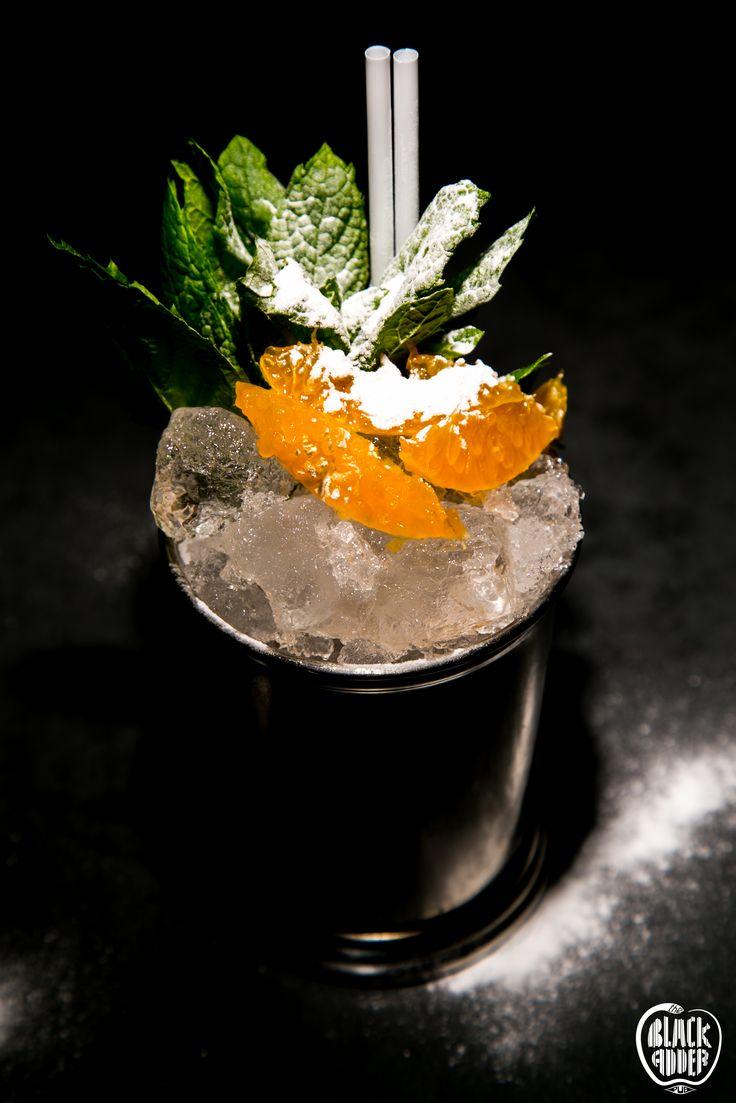 CAPTAIN BLACK ADDER! A blend of three different kinds of Rum, homemade mandarin, lime juice, vanilla and bitters / Αναμείξαμε τρία διαφορετικά ρούμι, σπιτικό πουρέ μανταρίνι, χυμό λάιμ, βανίλια Μαδαγασκάρης κι αρωματικά μπίτερς για ένα ξεχωριστό Julep.  #captainblackadder #blackadder #ilovecocktails #rumincocktails #blackaddercocktails #newcocktail #liquidtemptation #blackadder