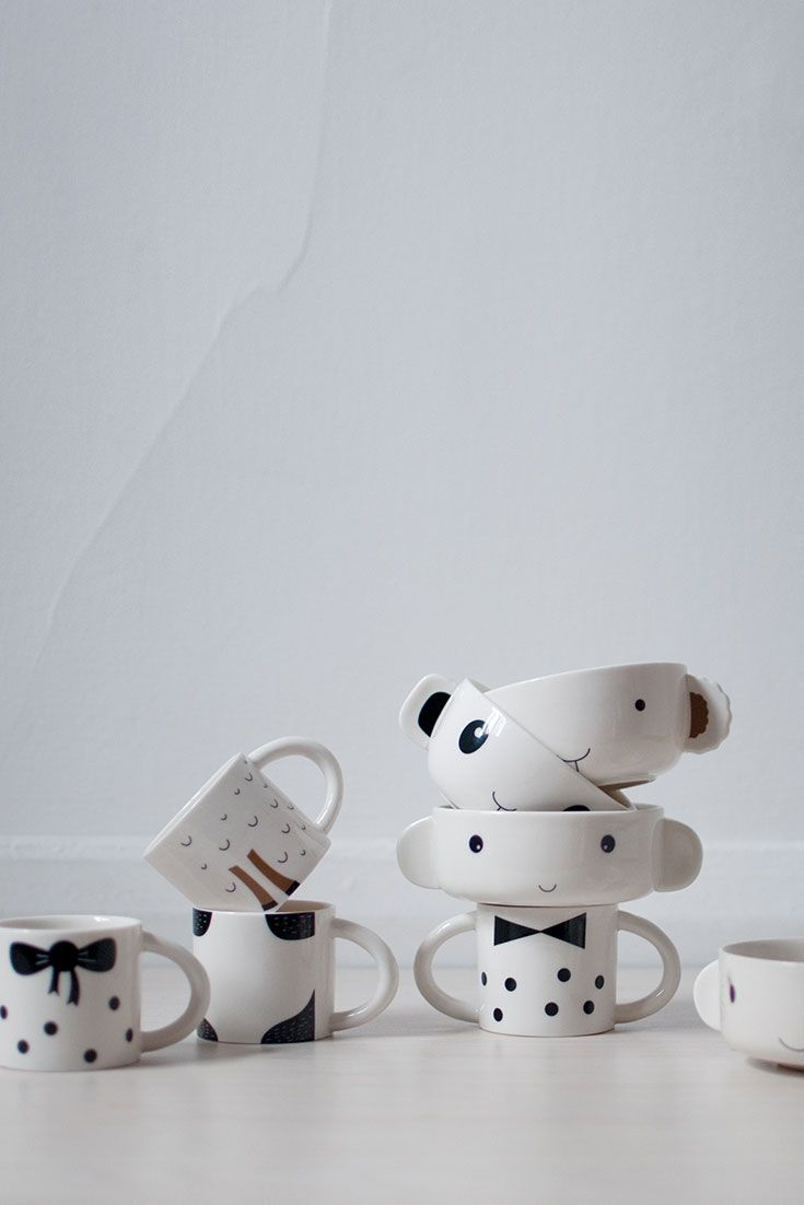 Stylish sustainable children tablewear | porcelain bowl and cup by Wee Gallery