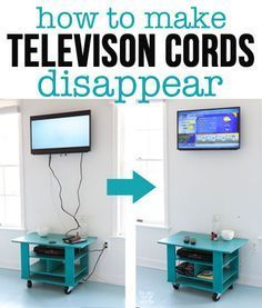 Using an inexpensive kit will let you easily hide cords and exposed wires coming from a wall mounted TV and electronics. | In My Own Style