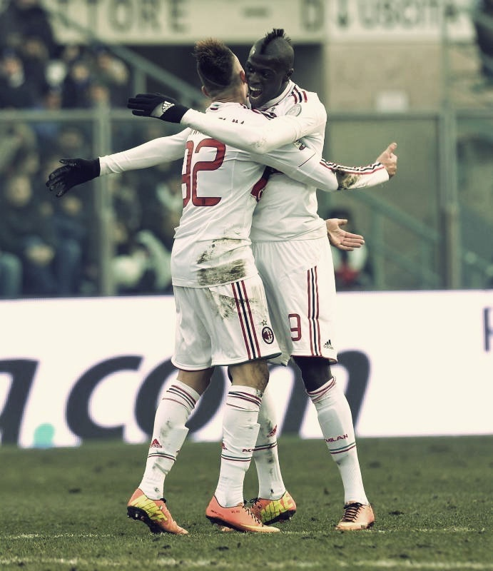 El Shaarawy  and Niang Celebrate
