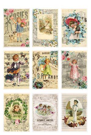 Reprint Art Stamps - stämplar, dynor, band scrapbook