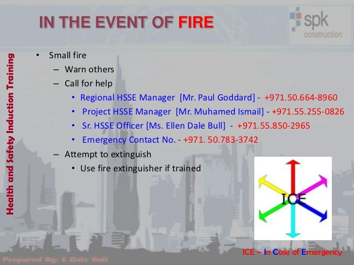 IN THE EVENT OF FIRE                                       • Small fireHealth and Safety Induction Training               ...