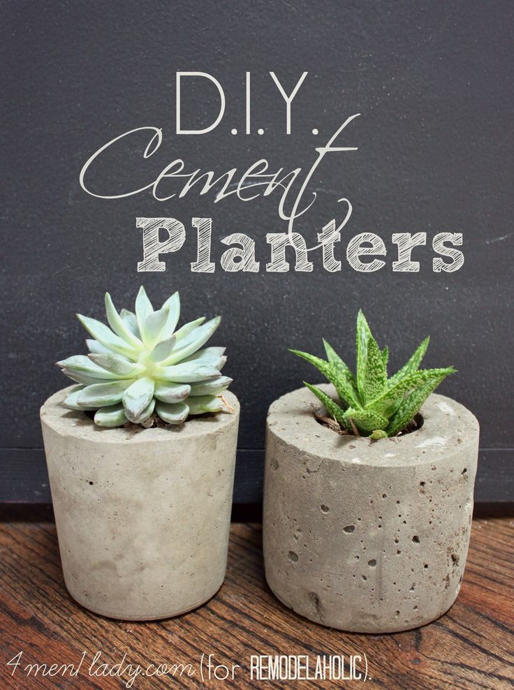 DIY Cement Planters - great tutorial! at @Remodelaholic .com