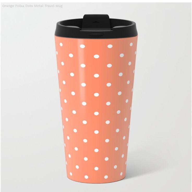 Simple Orange Metal Travel Mug on Society6
