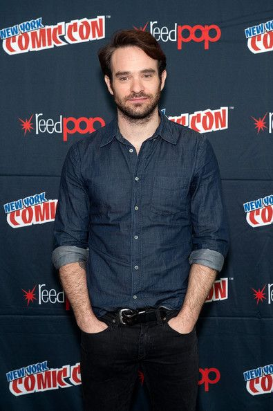 "Charlie Cox Photos Photos - Charlie Cox attends the Netflix Original Series ""Marvel's Daredevil"" New York Comic-Con Panel & Cast Signing at the Javits Center on October 11, 2014 in New York City. - Netflix Original Series ""Marvel's Daredevil"" New York Comic-Con Panel & Cast Signing"