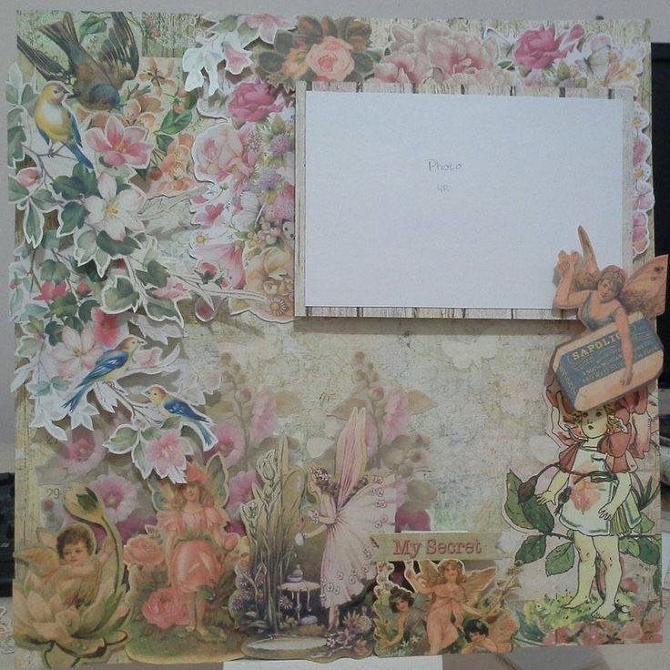 "belongs to Mrs.Agatha 30x30cm scrapbook for daughter using ""Fairy Rhyme"" from prima marketing"