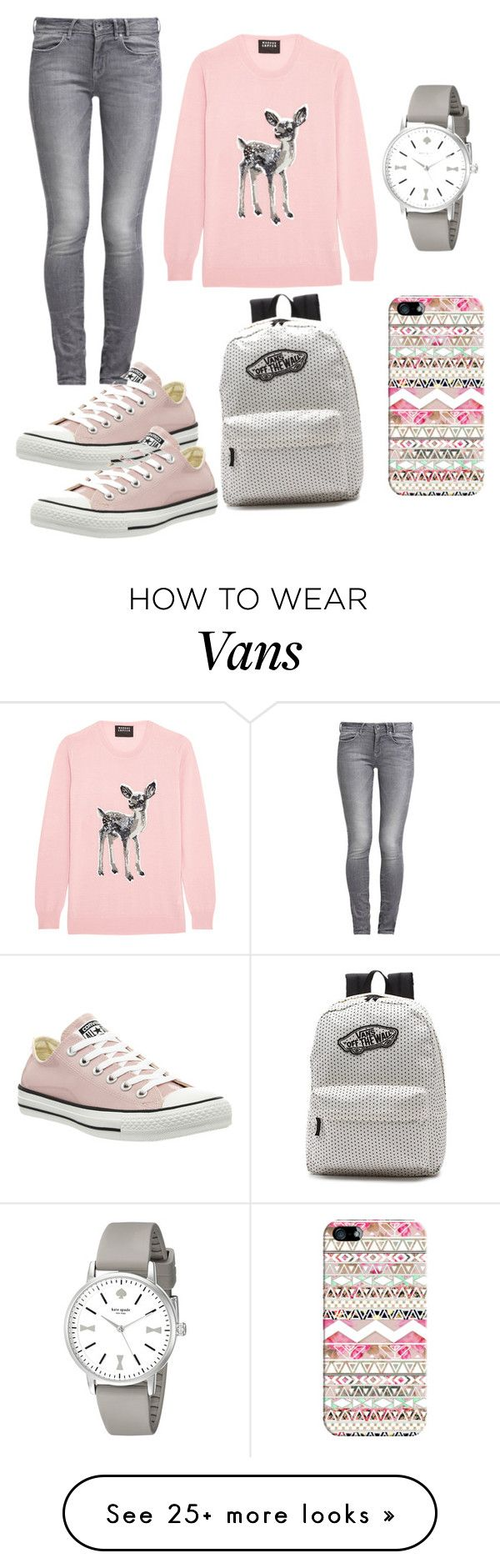 """""""Untitled #34"""" by catmother on Polyvore featuring moda, Markus Lupfer, GUESS, Converse, Kate Spade, Vans y Casetify"""