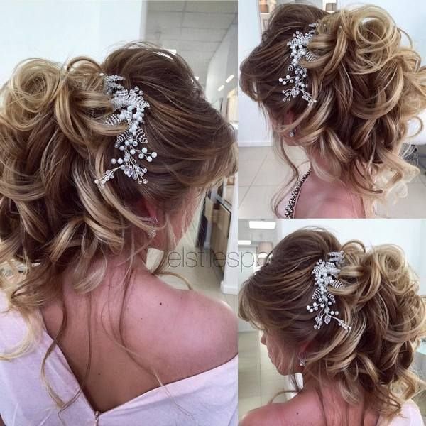 Half Updo, Braids, Chongo's Updo Wedding Hairstyles - Bride Hair Style - #Bride #Chongos #hair #Half # Updo