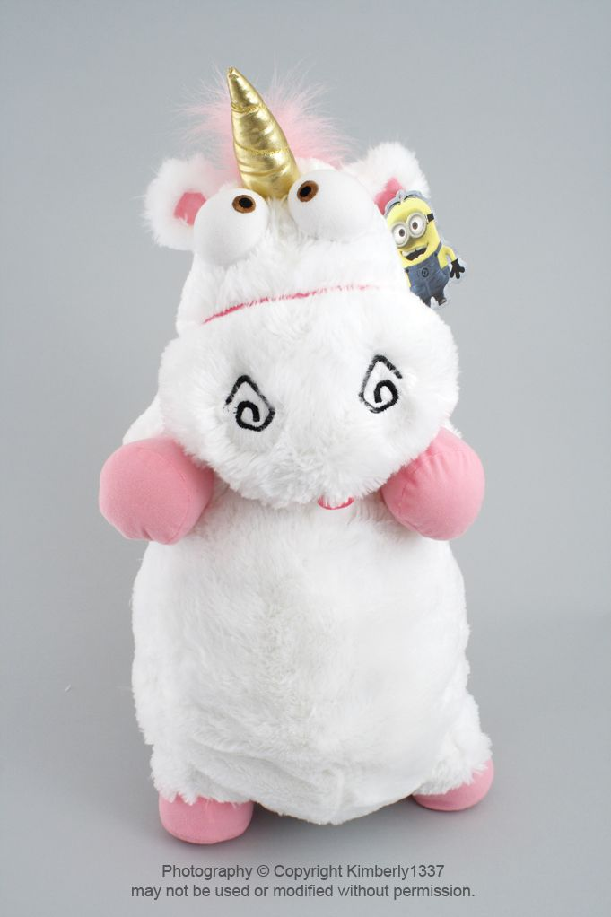 "This unicorn is the ""IT'S SO FLUFFY!!!"" version (ebay) - I'd gather up all the girls' unicorn stuffed animals and incorporate them in the party décor..."