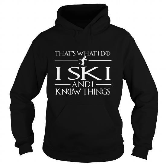 Awesome Tee  I SKI and I know things  T shirt
