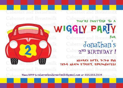 Wiggles party invitation
