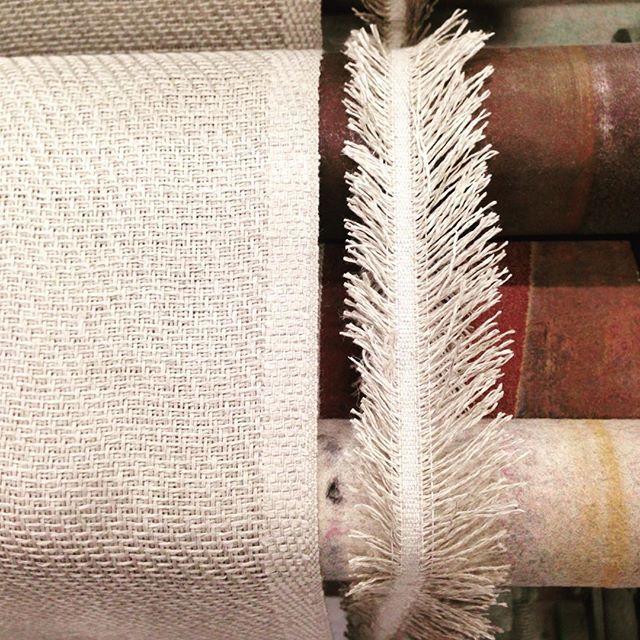 Weaving Bath Mats at the factory.