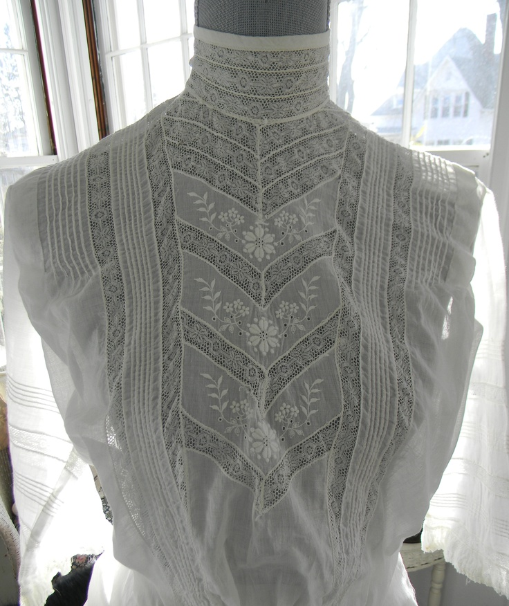 An Edwardian Blouse Alight In The Waning February Afternoon