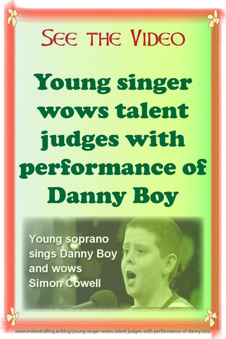 A young soprano from Manchester gave a stunning rendition of the famous Irish song Danny Boy on Britain's Got Talent.