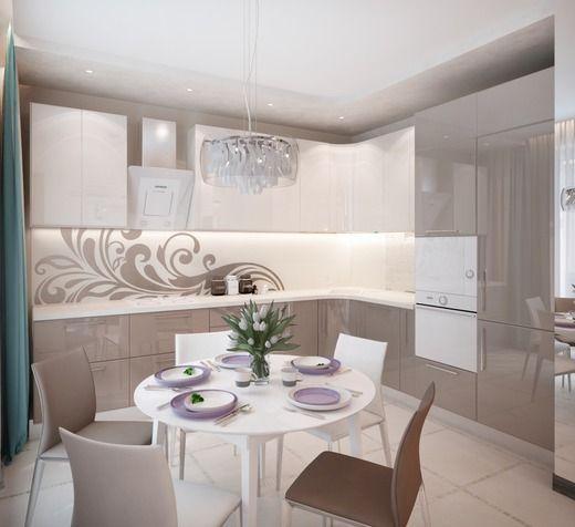 Кухня-гостиная в квартире на Державина 47. Кухня