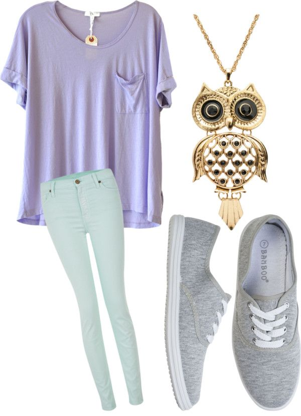 """Comfy School Outfit"" by gracegozag ❤ liked on Polyvore ( I don't like the jeans but the shirt is to die for!!)"