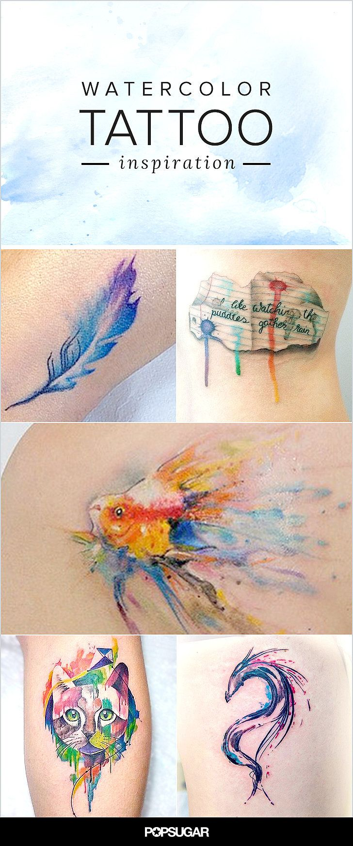 Embrace Your Inner Artist With These Watercolor Tattoo Ideas