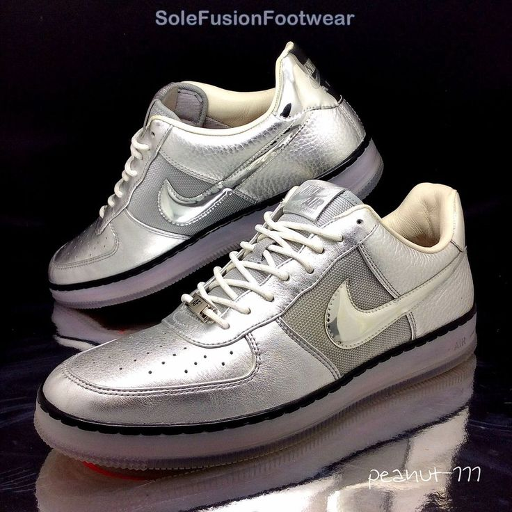 Nike Mens Air Force 1 Downtown Trainers Silver sz 9.5 Rare Sneakers US 10.5 44.5  | eBay