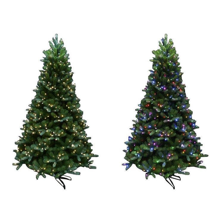 String Lights Christmas Tree Martha Stewart : Martha Stewart Living 7.5 ft. Indoor Pre-Lit LED Mount Everest Spruce Artificial Christmas Tree ...
