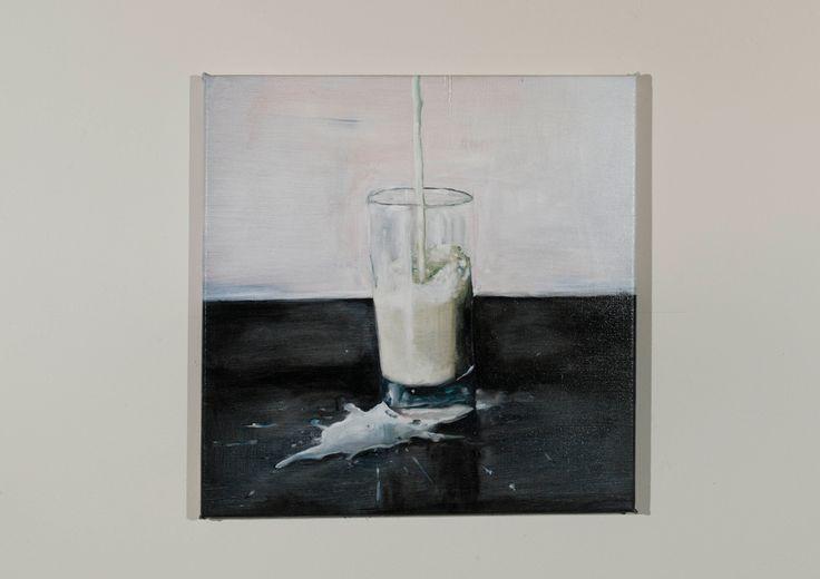 Michiel Pelerents, artist: Glass #2Oil on canvas, 38x38cm. Photo by Cedric Verhelst.