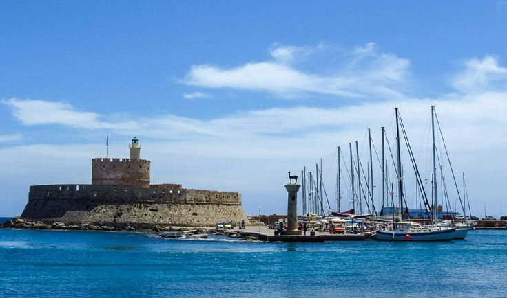 PORT OF GREEK ISLAND OF RHODES